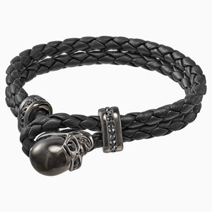 Fran Bracelet, Leather, Black