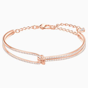 Lifelong Bangle, White, Rose-gold tone plated