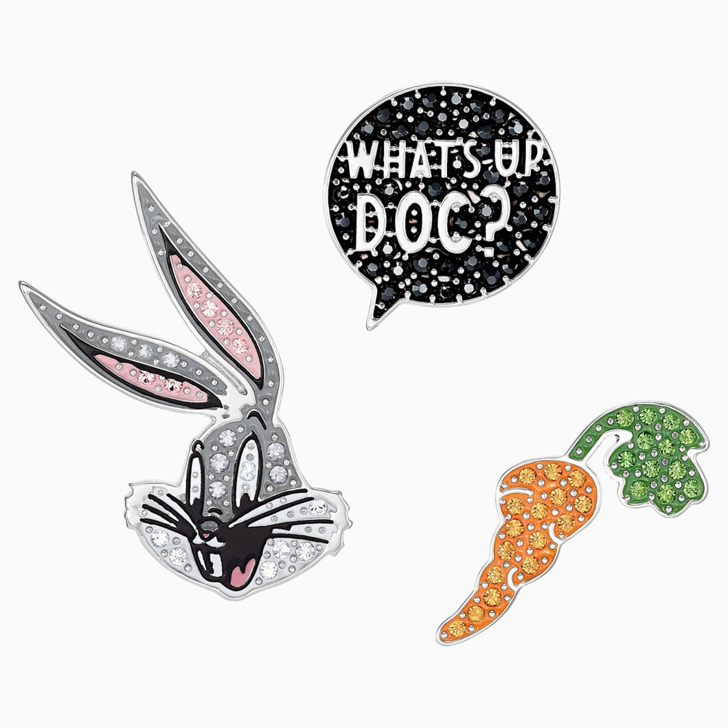 Looney Tunes Bugs Bunny , Multi-coloured, Rhodium plated