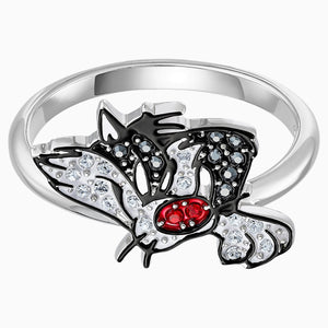 Looney Tunes Sylvester Motif Ring, Multi-coloured, Rhodium plated