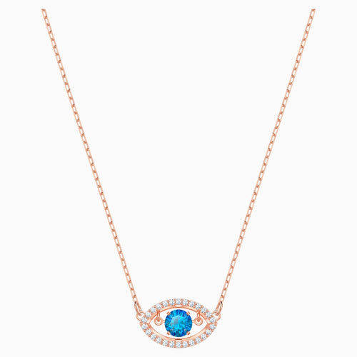 Luckily Necklace, Multi-coloured, Rose-gold tone plated