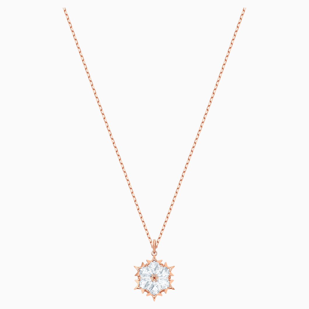 Magic Pendant, White, Rose-gold tone plated