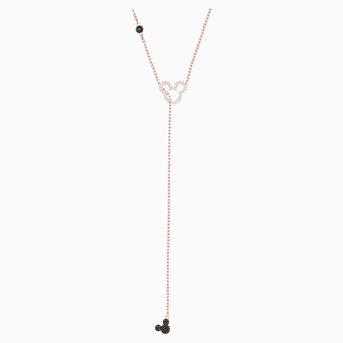 Mickey & Minnie Y Necklace, Multi-coloured, Rose-gold tone plated
