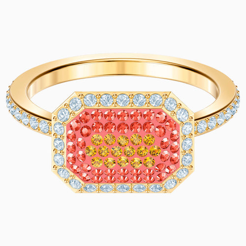 No Regrets Ring, Multi-coloured, Gold-tone plated