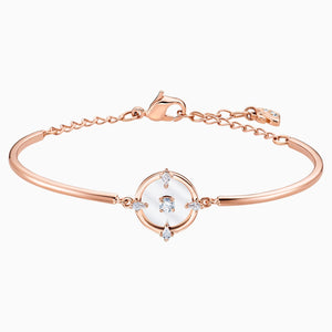 North Bangle, White, Rose-gold tone plated