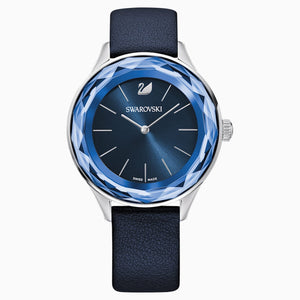 Octea Nova Watch, Leather strap, Blue, Stainless steel
