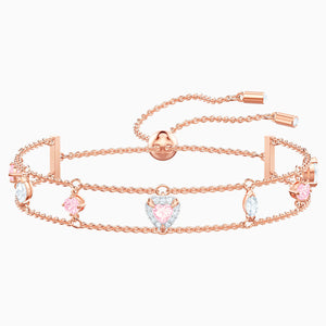 One Bracelet, Multi-coloured, Rose-gold tone plated
