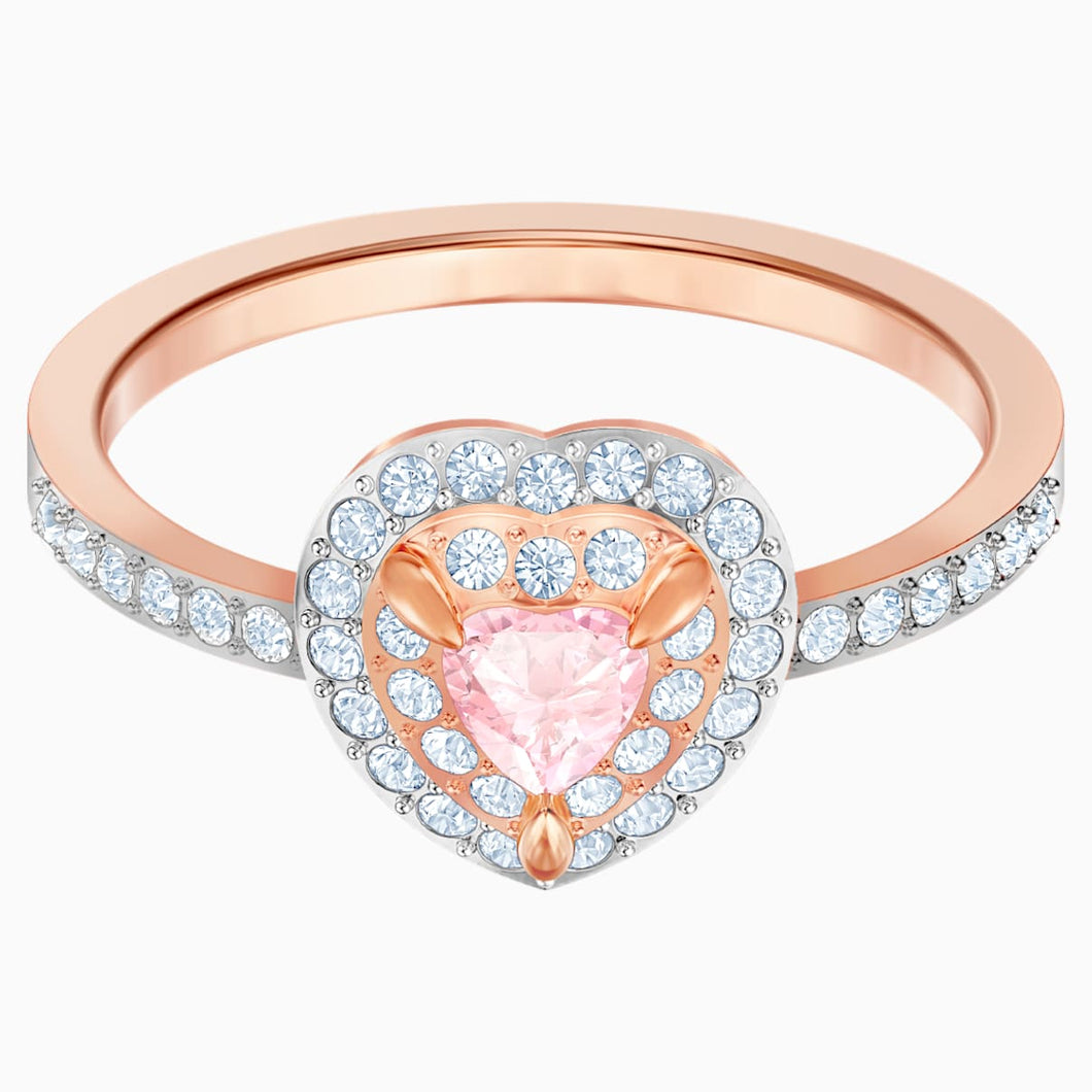One Ring, Multi-coloured, Rose-gold tone plated