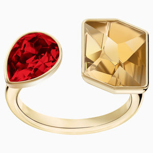 Prisma Ring, Multi-coloured, Gold-tone plated