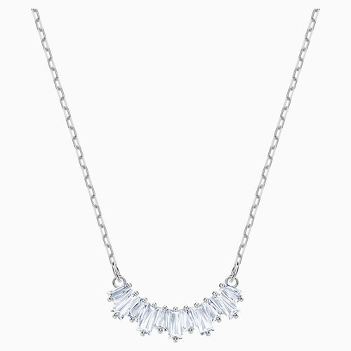 Sunshine Necklace, White, Rhodium plated