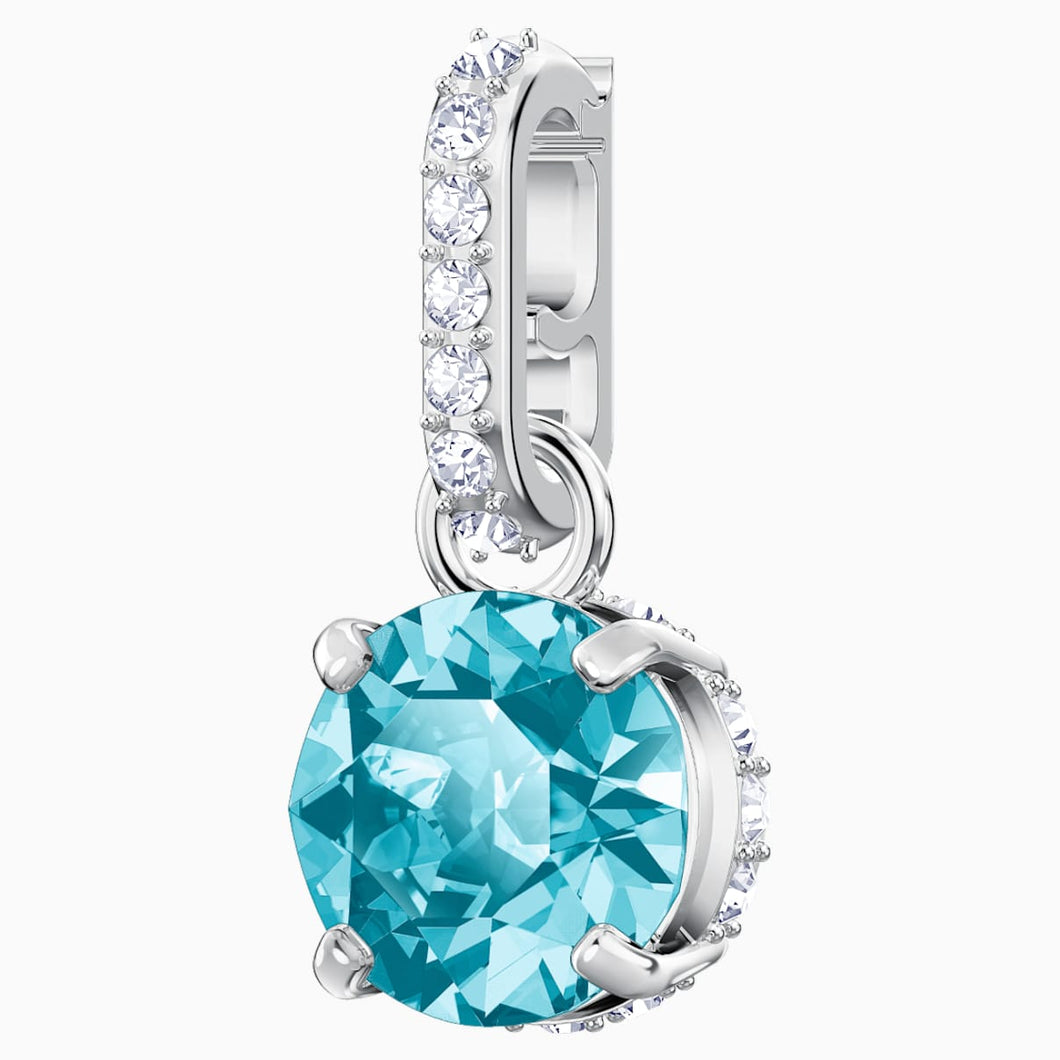 Swarovski Remix Collection Charm, December, Blue, Rhodium plated