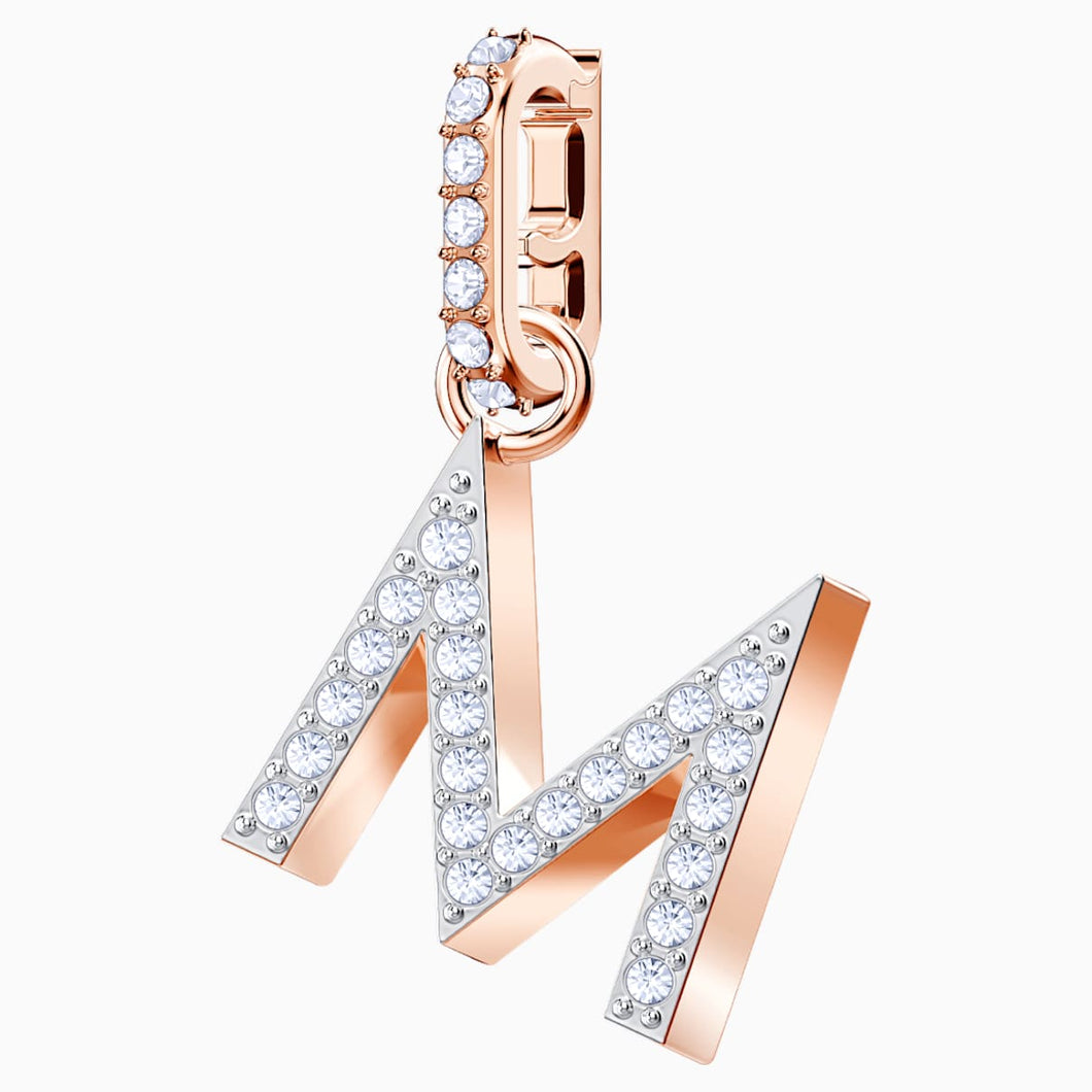 Swarovski Remix Collection Charm M, White, Rose-gold tone plated