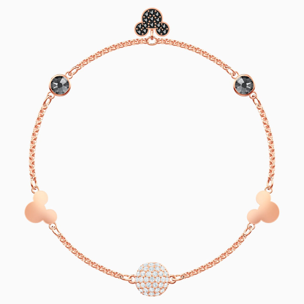 Swarovski Remix Collection Mickey Strand, Multi-coloured, Rose-gold tone plated