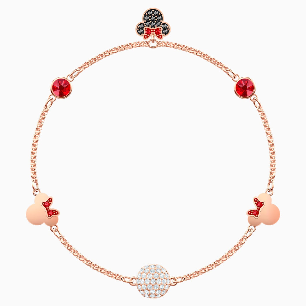 Swarovski Remix Collection Minnie Strand, Multi-coloured, Rose-gold tone plated