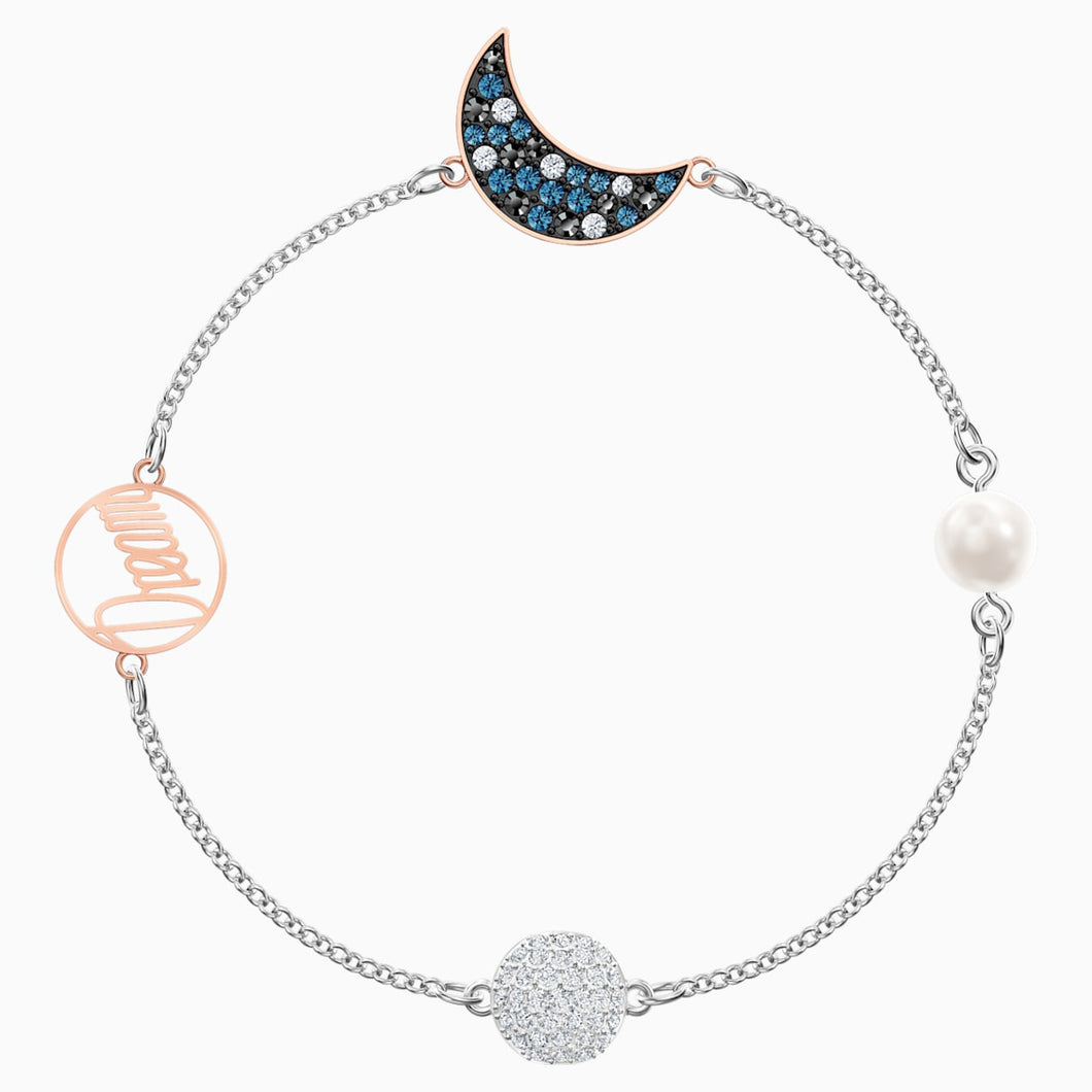 Swarovski Remix Collection Moon Strand, Multi-coloured, Mixed metal finish