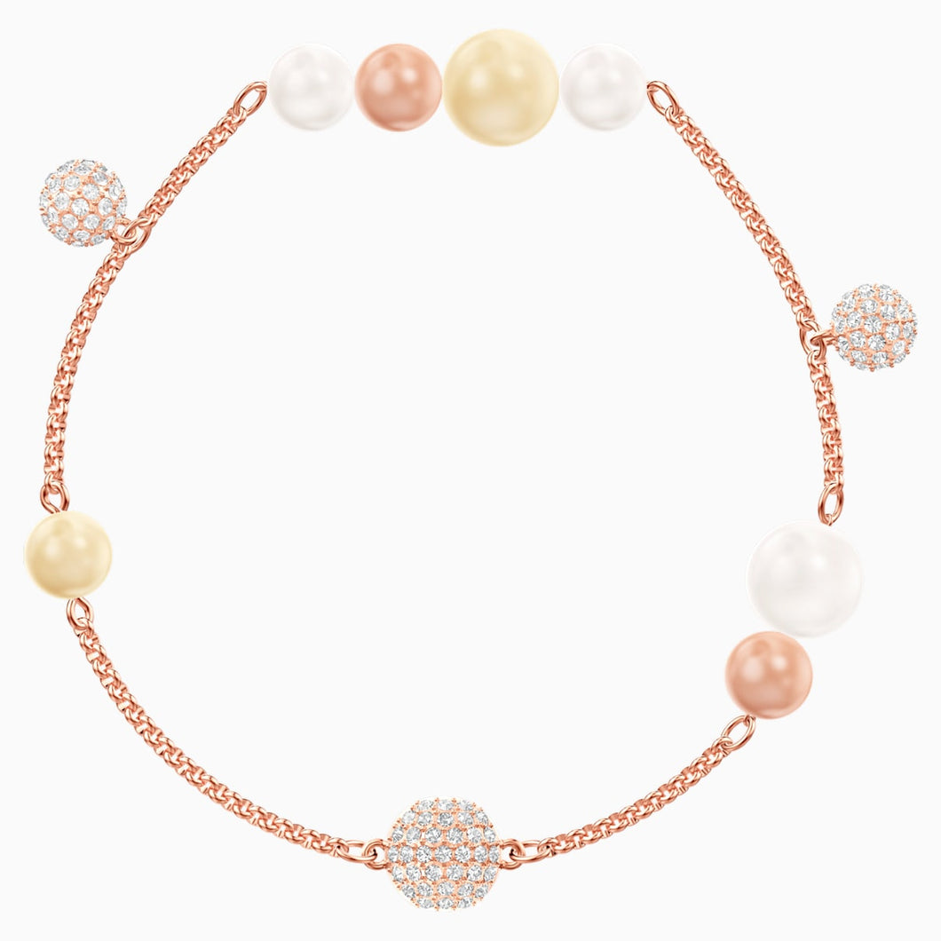 Swarovski Remix Collection Pearl Strand, Multi-coloured, Rose-gold tone plated