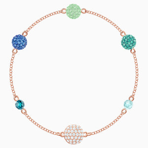 Swarovski Remix Collection Pop Strand, Green, Rose-gold tone plated