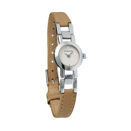 Bliss Stainless Steel and Leather Watch