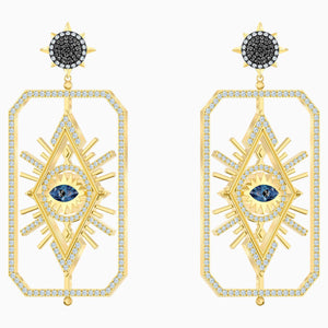 Tarot Magic Pierced Earrings, Multi-coloured, Gold-tone plated