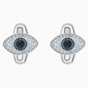 Unisex Evil Eye Cufflinks, Multi-coloured, Stainless steel