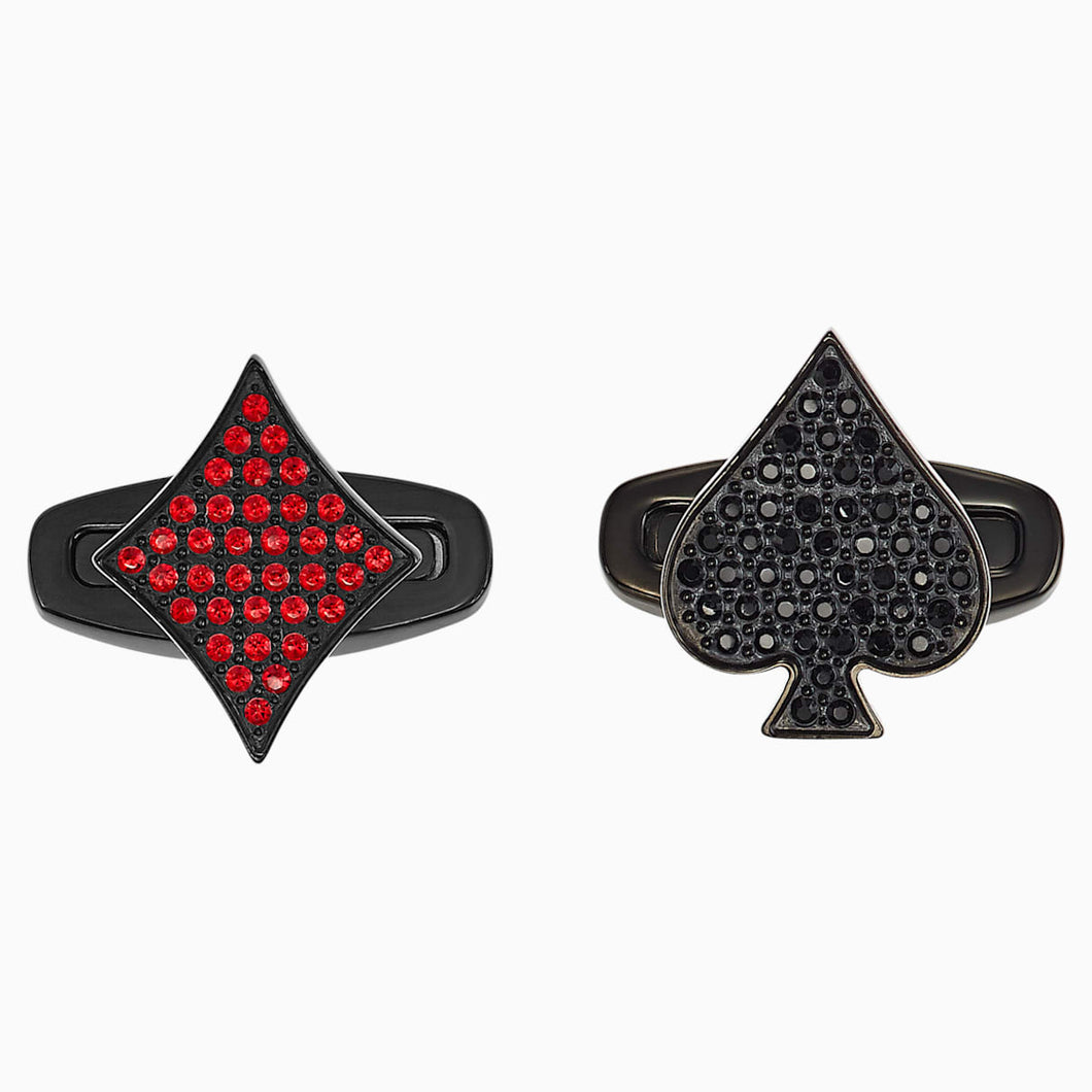 Unisex Tarot Magic Cufflinks, Red, Black PVD