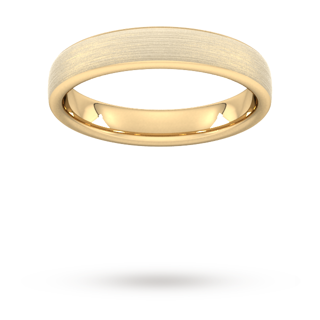 4mm Slight Court Extra Heavy Matt Finished Wedding Ring i ...