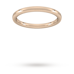 2mm Slight Court Extra Heavy milgrain edge Wedding Ring i ...