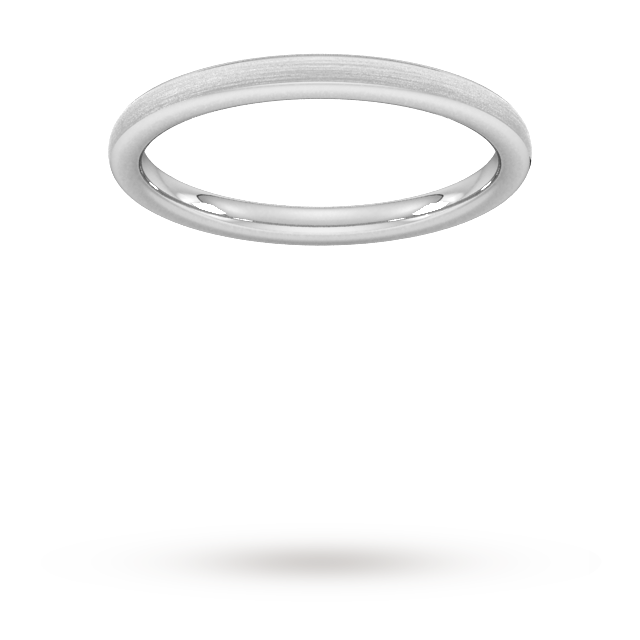 2mm Slight Court Extra Heavy Matt Finished Wedding Ring i ...
