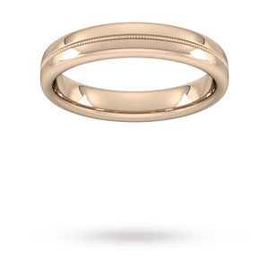 4mm Slight Court Extra Heavy Milgrain Centre Wedding Ring ...