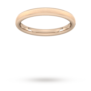 2.5mm Slight Court Extra Heavy Matt Finished Wedding Ring ...