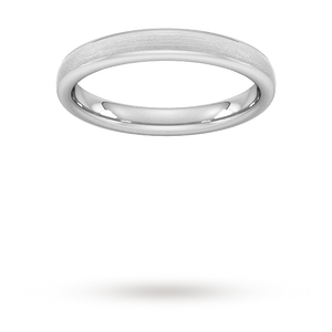 3mm Slight Court Extra Heavy Matt Finished Wedding Ring i ...