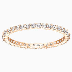Vittore Ring, White, Rose-gold tone plated