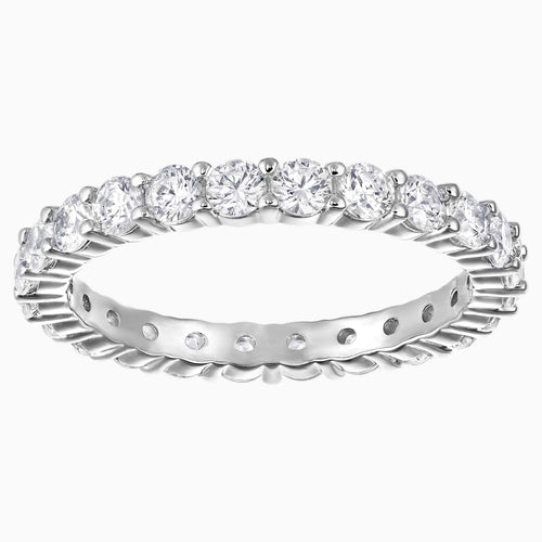 Vittore XL Ring, White, Rhodium plated