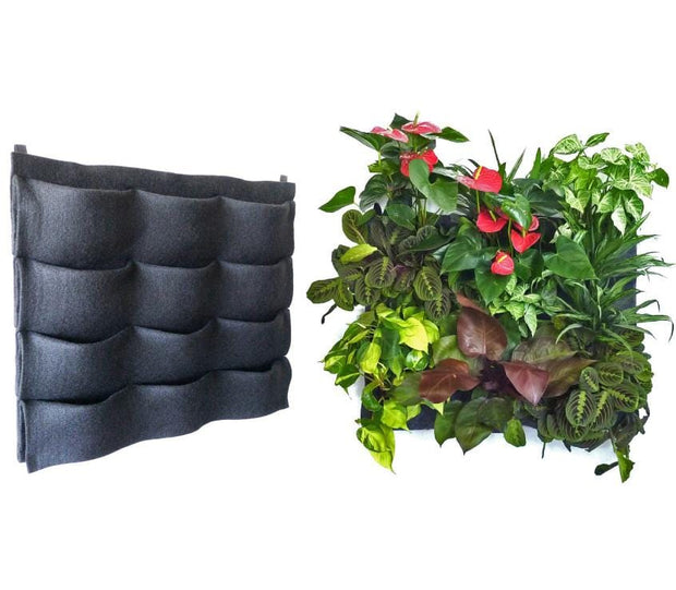 12 pocket felt vertical garden planter