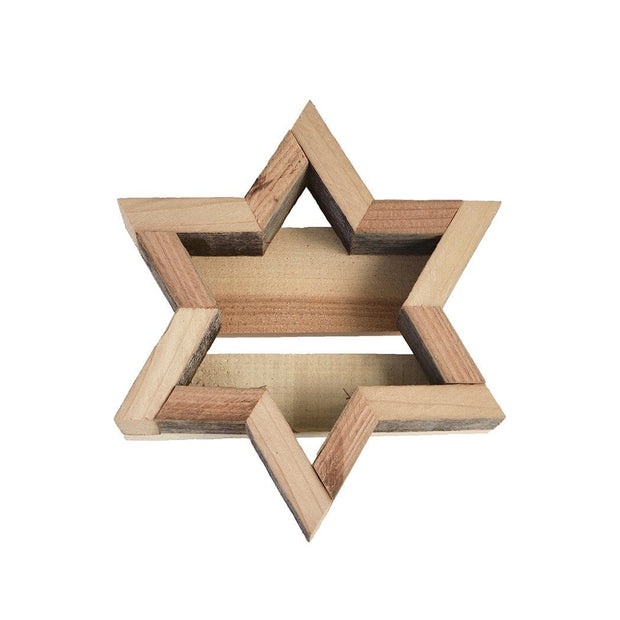 Small Wood Star Frame - white background