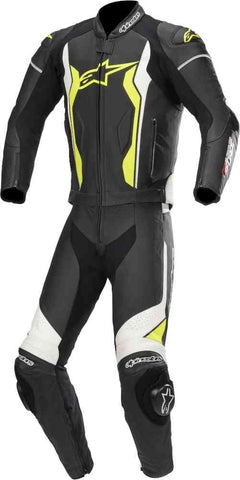 Lederkombi Alpinestars GP Force 2- Teiler black/white/yellow