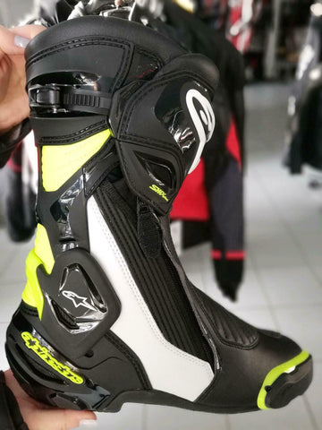 Alpinestars SMX Plus V2 Motorradstiefel black/white/yellow-fluo Gr. 43