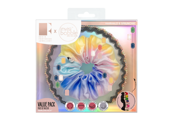 SPRUNCHIE + HAIRHALO – Trendy Treasure Kit