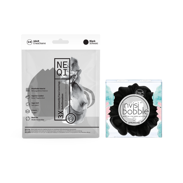 Invisibobble® x NEQI Face Mask BLACK Duo Bundle