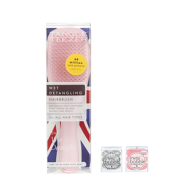 Tangle Teezer x invisibobble® – Basic Set Pink