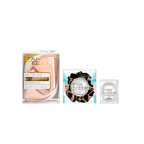 Tangle Teezer x invisibobble® – Compact Rose Creme Set