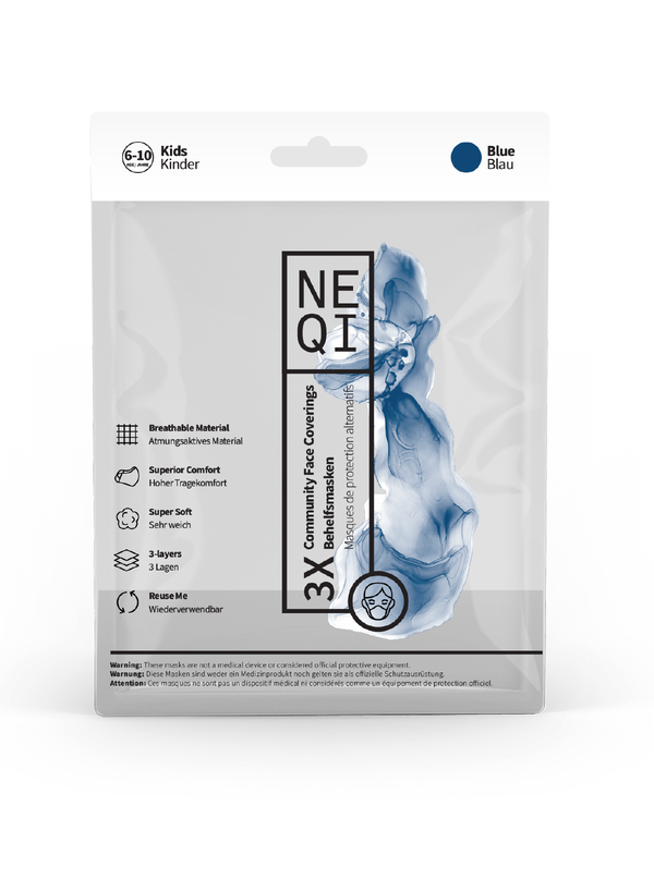 NEQI Face Masks Blue Kids