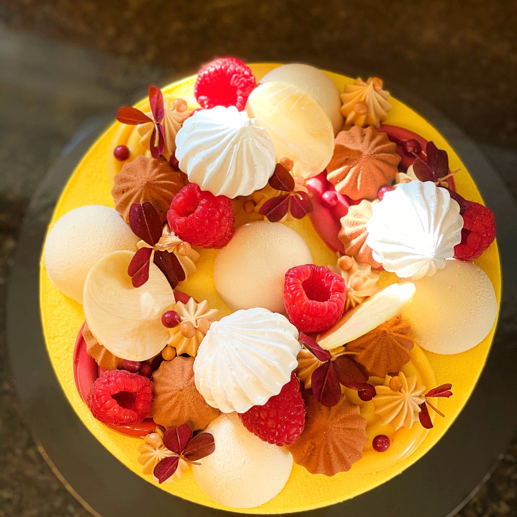 Passion & Mango Mousse Cake
