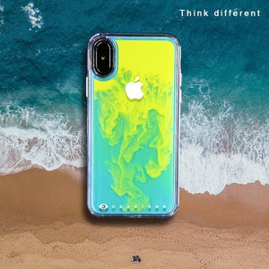 Dynamic Noctilucent Quicksand Phone Case For IPHONE 6/6S/7/8/7P/8P/X/XS/XR/XS/MAX