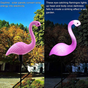 Solar Flamingo Light