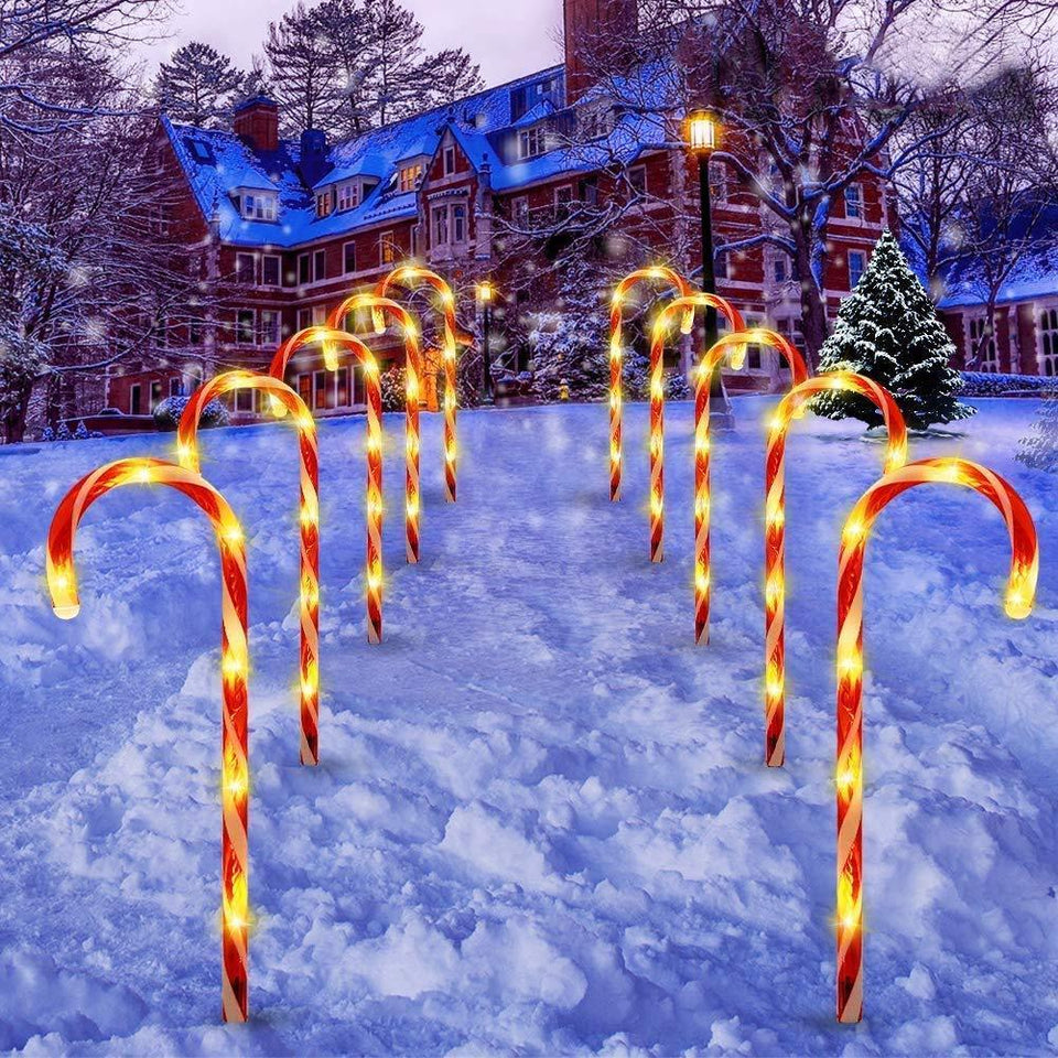 Christmas Candy Cane Pathway Lights