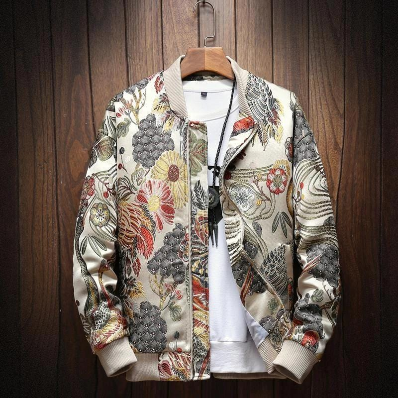 Japanese Embroidery Bomber Jacket