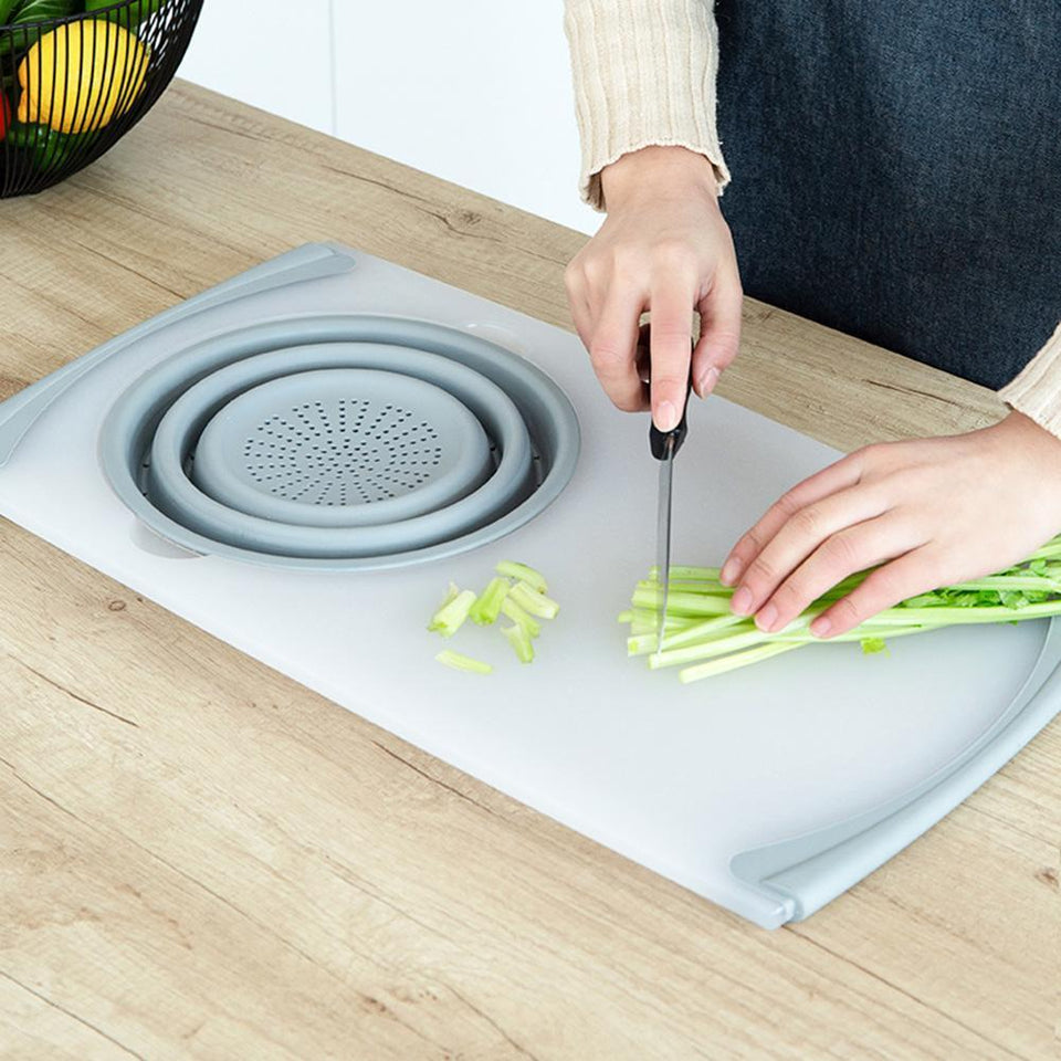 3-in-1 over the sink cutting board