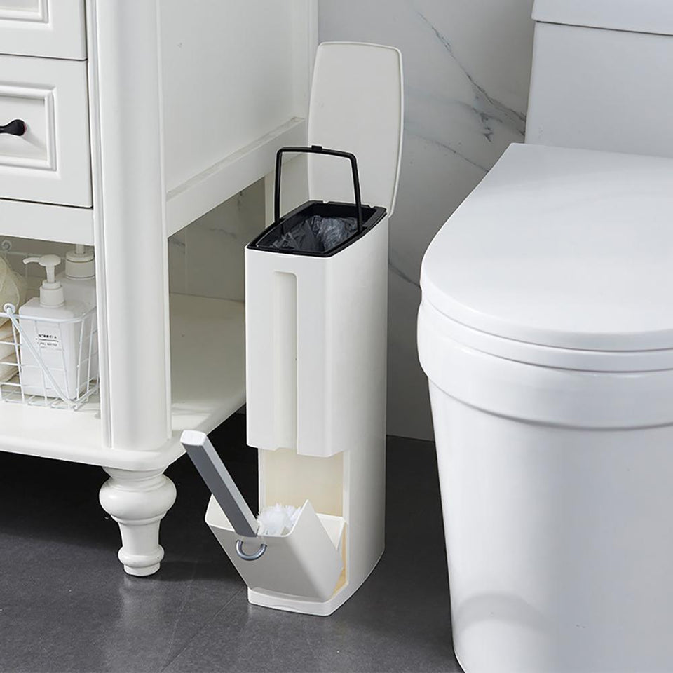 Creative Toilet Brush Multifunction Trash Can Storage Integrated Suit Household Cleaning Tool Bathroom Accessories Sets