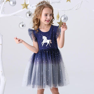 Flying Sleeve Princess Unicorn Dress